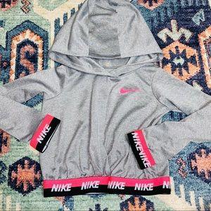 Nike girls toddler 4T gray long sleeve hoodie top